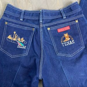 Deadstock Vintage Braxton Dallas Embroidered Jeans